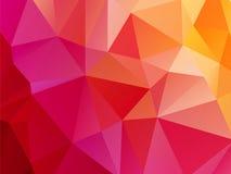Rode roze oranje driehoekige achtergrond Stock Fotografie