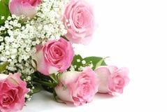Rode rozen en een kant Royalty-vrije Stock Foto's