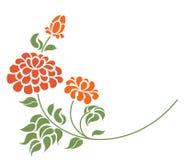 Rode rozen op de witte achtergrond royalty-vrije illustratie