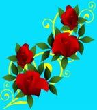 Rode rozenachtergrond Stock Afbeelding