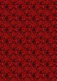 Rode rozenachtergrond. Stock Foto
