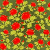 Rode rozenachtergrond royalty-vrije illustratie
