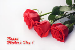 Rode rozenclose-up Mooi Boeket De gelukkige kaart van de moederdag royalty-vrije stock foto's