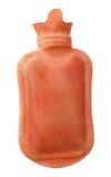 Rode rubber heet waterfles royalty-vrije stock fotografie