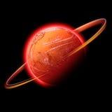 Rode ruimteplaneet Royalty-vrije Stock Fotografie