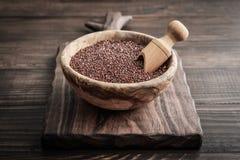 Rode ruwe Quinoa zaden royalty-vrije stock fotografie