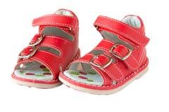 Rode sandals Royalty-vrije Stock Afbeelding