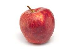 Rode sappige appel op wit Stock Afbeelding