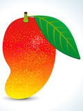 Rode sappige mango met blad Stock Foto