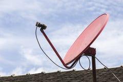 Rode satelliet Royalty-vrije Stock Fotografie