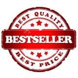 Rode satmp van de best-seller royalty-vrije illustratie