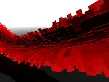 Rode schalen Stock Foto