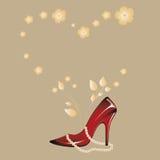 Rode schoen Royalty-vrije Stock Fotografie
