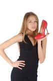 Rode schoen Royalty-vrije Stock Afbeeldingen