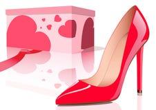 Rode schoen Royalty-vrije Stock Afbeelding