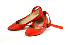 Rode schoenen Stock Foto's