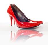 Rode schoenen Stock Afbeelding