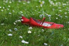 Rode schoenen stock afbeeldingen