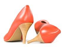Rode schoenen. Stock Fotografie