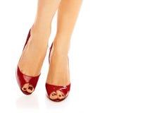 Rode schoenen Royalty-vrije Stock Afbeelding