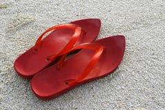 Rode Schoenen Stock Fotografie