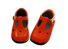 Rode schoenen Royalty-vrije Stock Fotografie