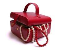Rode schoonheidsdoos Stock Foto