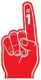 Rode schuimvinger Royalty-vrije Stock Fotografie