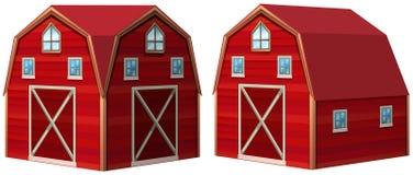Rode schuur in 3D ontwerp Royalty-vrije Stock Afbeelding