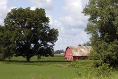 Rode schuur in Missouri Royalty-vrije Stock Afbeelding