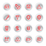 Rode serverpictogrammen Royalty-vrije Stock Afbeelding