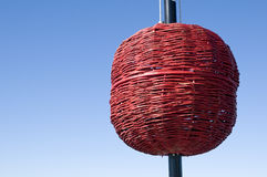 Rode signaalbal Stock Fotografie