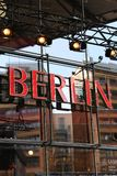Rode signage van Berlijn Royalty-vrije Stock Afbeeldingen