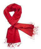 Rode sjaal of pashmina royalty-vrije stock afbeeldingen