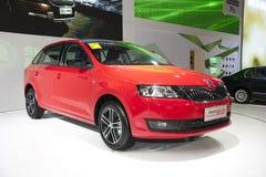 Rode skoda snelle ruimte achterauto van Volkswagen Royalty-vrije Stock Fotografie
