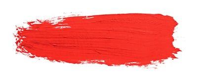 Rode slag van de verfborstel Stock Afbeelding