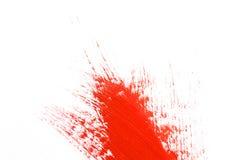 Rode slag van de verfborstel Stock Foto