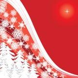 Rode sneeuw Royalty-vrije Stock Afbeelding
