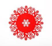 Rode sneeuwvlok Royalty-vrije Stock Foto