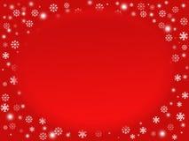 Rode sneeuwvlokachtergrond Stock Foto