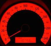 Rode snelheidsmeter Royalty-vrije Stock Foto's