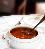 Rode soep Stock Foto's