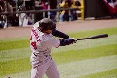 Rode sox van Ramirez Boston van Manny Stock Afbeeldingen