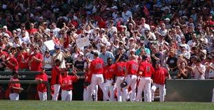 Rode Sox viert Stock Afbeeldingen
