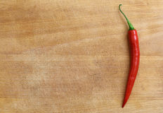 Rode Spaanse peper aan boord Stock Afbeelding