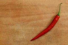 Rode Spaanse peper aan boord Royalty-vrije Stock Fotografie