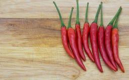 Rode Spaanse peper kruidige zeer heerlijk Stock Foto's