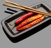 Rode Spaanse peperpeper stock afbeeldingen