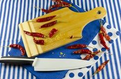 Rode Spaanse pepers Royalty-vrije Stock Afbeeldingen