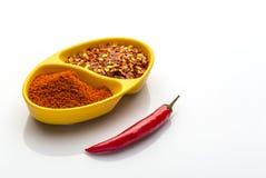 Rode Spaanse pepers Stock Fotografie